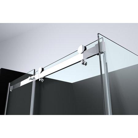 "Best-design Best-Design ""Erico-Rechthoek"" cabine schuifdeur & wand 120x90x200cm NANO glas 8mm"