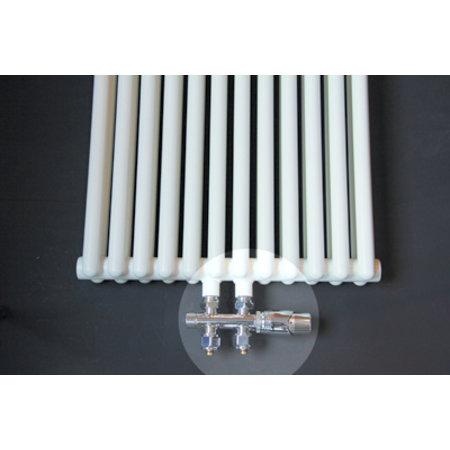 """Best-design Best-Design Luxe radiator-aansluitset """"Midden onder Recht"""" universeel (DS-ORANJE)"""