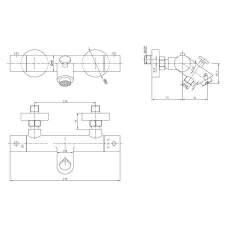"Best-design Best-Design ""High-Plus"" RVS-304 ""Ore"" opbouw badthermostaat"