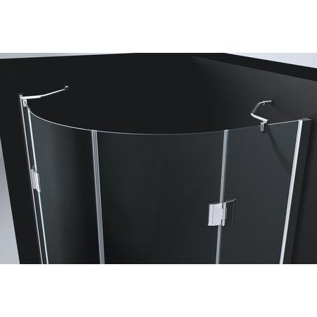 "Best-design Best-Design ""Erico"" 1/4 rond cabine met 2 deuren 90x90x192cm NANO glas 8mm"