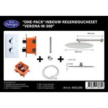 """Best-Design """"One-Pack"""" inbouw-regendoucheset """"Verona-M-300"""""""