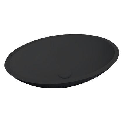 "Best-design Best-Design ""Epona-Black"" opbouw waskom ""Just-Solid"" 52 cm"