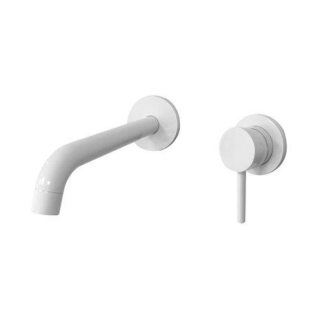 """Best-design Best-Design """"Ratee"""" inbouw wandmengkraan uitl=21cm """"Bianco"""" RVS glans-wit"""