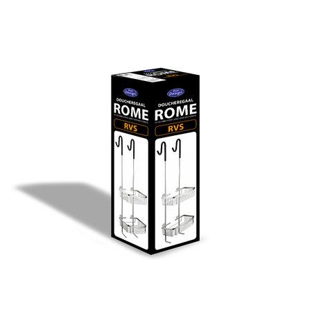 "Best-design Best-Design ""Rome-Steinhof-RVS"" ophangrek ""Ore"" (doucheregaal)"
