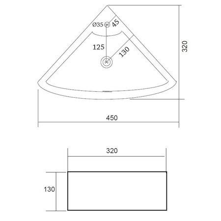 """Best-design Best-Design """"Floor"""" hoekfontein 32.5x32.5x13cm"""