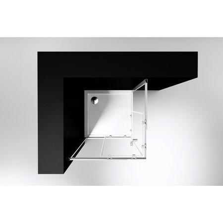 "Best-design Best-Design ""Project"" douche hoekinstap 80x80x190cm glas 5mm"