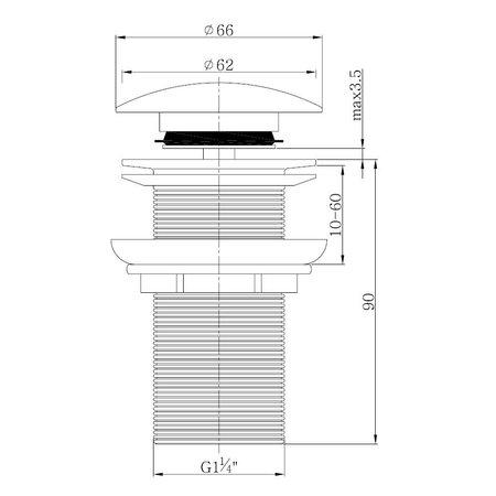 "Best-design Best-Design clic-waste lange draad 5/4"""