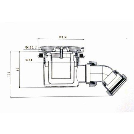 """Best-design Best-Design """"Jacky"""" doucheplug 90/114 mm (knelwartel)"""