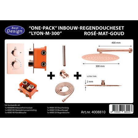 "Best-design Best-Design ""One-Pack"" inbouw-regendoucheset ""Lyon-M-300"""