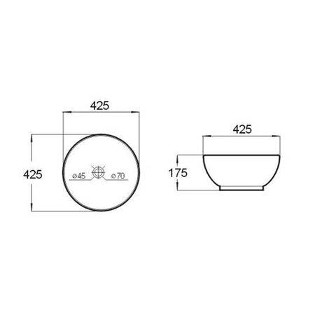 """Best-design Best-Design """"Big Rema"""" opbouw-waskom Ø=42,5cm H=17,5cm"""
