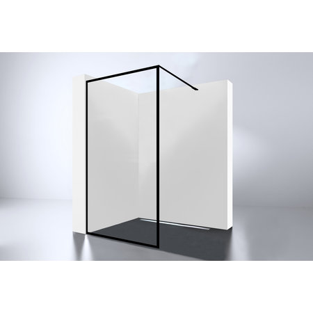 "Best-design Best-Design ""For-You 800"" Zwart inloopdouche Walk-In 800x2000x8mm"