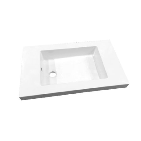 """Best-design Best-Design """"Slim"""" wastafel voor meubel 60 cm (ondiep) 35 cm zonder kraan gat"""