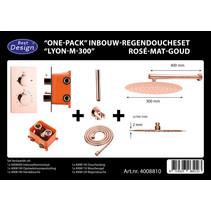 "Best-Design ""One-Pack"" inbouw-regendoucheset ""Lyon-M-300"""