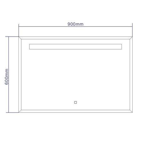 "Best-design Best-Design ""Miracle"" LED spiegel B=90 x H=60cm"