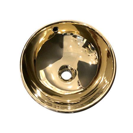 "Best-design Best-Design ""Ancona"" opbouw-waskom glans-goud Ø=38cm H=16cm"