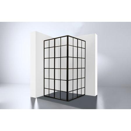 """Best-design Best-Design """"Black-Corner"""" douche hoekinstap 990x990x2100x4mm"""