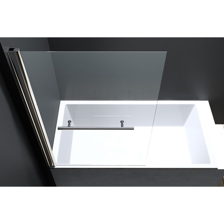 "Best-design Best-Design ""Erico"" badwand incl.handd-beugel 80x140cm NANO glas 6mm"