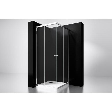 "Best-design Best-Design ""Project"" douche hoekinstap 100x100x190cm glas 5mm"