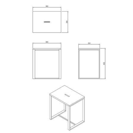 "Best-design Best-Design ""Faece-Black"" stoel ""Just-Solid-Steel"" mat-zwart"