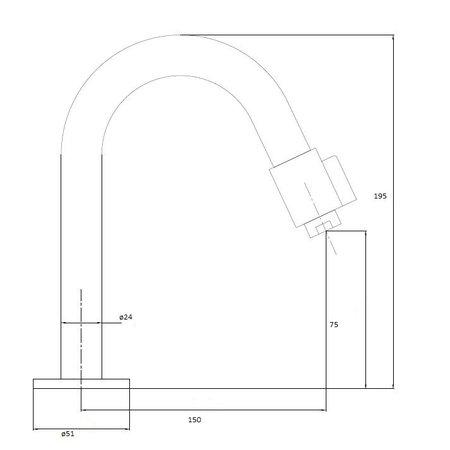 """Best-design Best-Design """"Dimpel"""" RVS-304 """"Ore"""" toiletkraan"""
