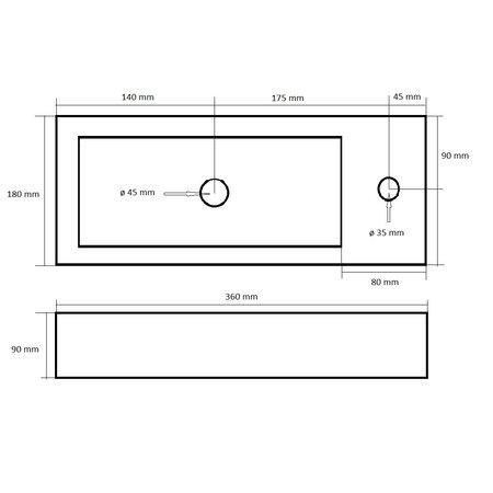 "Best-design Best-Design ""Mini-Block"" fontein rood Rechts 36x18x9cm"
