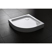 "Best-Design ""Project"" opbouwdouchebak 1/4-Rond 80x80x14 cm R=550"