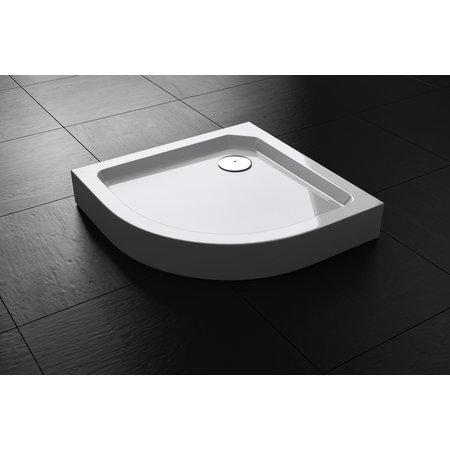 "Best-design Best-Design ""Project"" opbouwdouchebak 1/4-Rond 80x80x14 cm R=550"