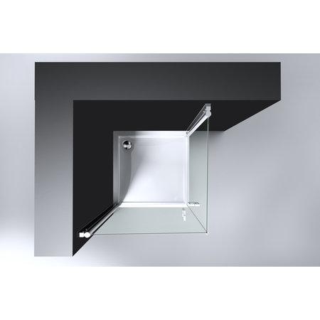 "Best-design Best-Design ""Erico"" vierkante cabine met 2 deuren 90x90x192cm NANO glas 6mm"