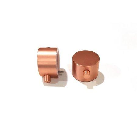 "Best-design Best-Design paar bedieningsknop Rosé-Mat-Goud thermostatisch/omstel tbv.""Lyon"" Art.4008090"