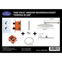 """Best-Design """"One-Pack"""" inbouw-regendoucheset """"Verona-M-200"""""""