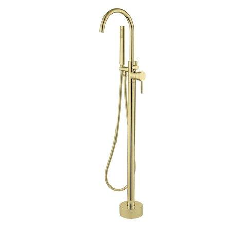 """Best-design Best-Design """"Nancy"""" vrijstaande badkraan H=112 cm mat-goud"""