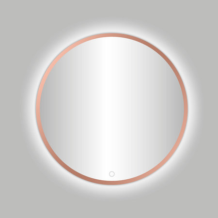 "Best-design Best-Design Lyon ""Venetië-Thin"" ronde spiegel Rose-Mat-Goud incl.led verlichting Ø 100 cm"
