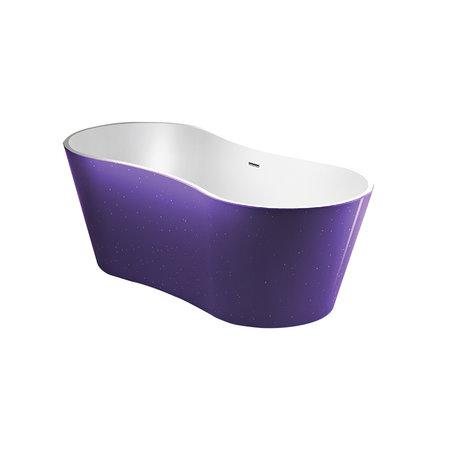 "Best-design Best-Design ""Color-Purplecub"" vrijstaand bad 174x77x58cm"