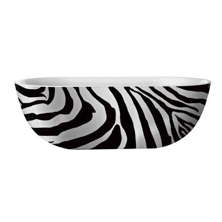 """Best-design Best-Design """"Color-Zebra"""" vrijstaand bad 180x86x60cm"""