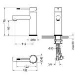 """Best-design Best-Design """"Industry"""" RVS-304 """"Ore"""" wastafelmengkraan"""