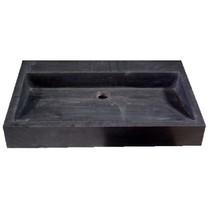 """Best-Design """"Dieplot-70"""" opbouw-wastafel Limestone 70x45x10cm z/krgat"""