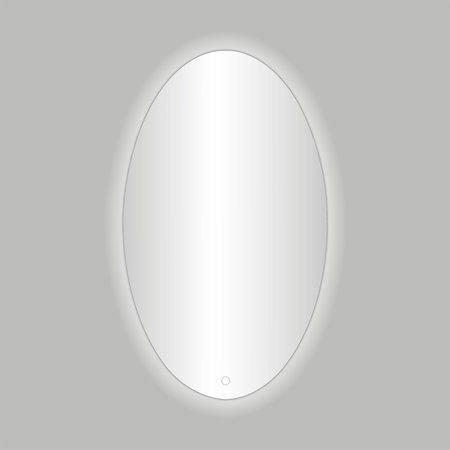 """Best-design Best-Design """"Divo-60"""" ovale spiegel incl.led verlichting B=60 x H=80cm"""