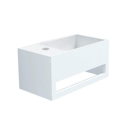 """Best-design Best-Design """"Mona-Links"""" fontein incl.handdoekhouder """"Just-Solid"""" 33x18x16cm"""