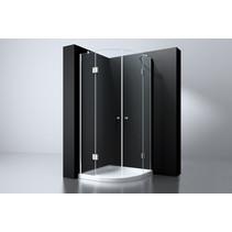 "Best-Design ""Erico"" 1/4 rond cabine met 2 deuren 100x100x192cm NANO glas 8mm"