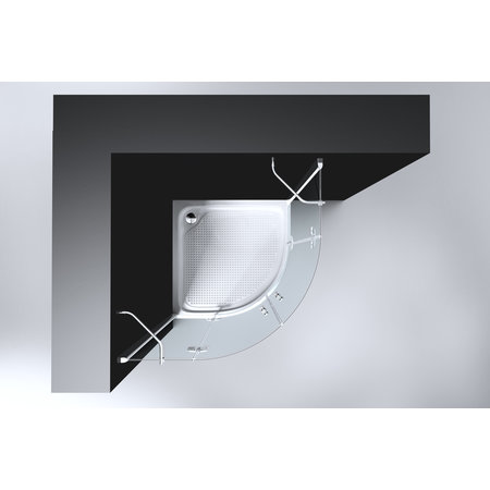 "Best-design Best-Design ""Erico"" 1/4 rond cabine met 2 deuren 100x100x192cm NANO glas 8mm"