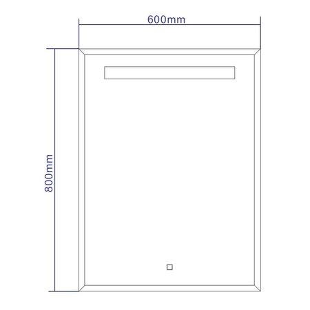"Best-design Best-Design Nero ""Black-Miracle"" LED spiegel B=60 x H=80cm"