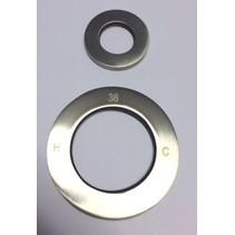 """Best-Design set RVS sierringen (2 stuks) tbv.""""Ore-Wheel"""" no:3863330"""