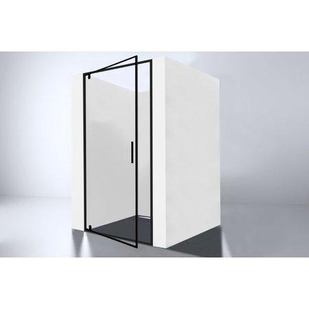 """Best-design Best-Design """"Baron-80"""" Nisdeur Zwart 78-80x200 cm Nano Glas 8 mm"""