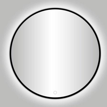 """Best-design Best-Design Nero """"Venetië"""" ronde spiegel zwart incl.led verlichting Ø 140 cm"""