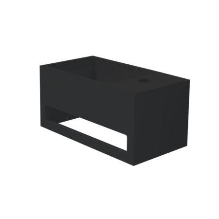 """Best-design Best-Design """"Mona-Black-Rechts"""" fontein incl.handdoekhouder """"Just-Solid"""" 33x18x16cm"""