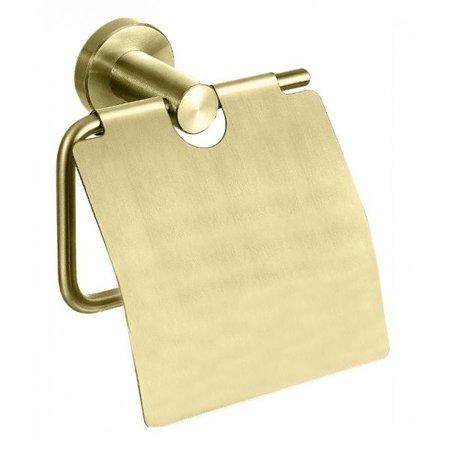 "Best-design Best-Design ""Nancy"" toiletrolhouder met klep mat-goud"