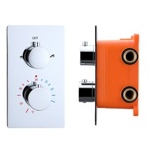 """Best-Design """"Verona"""" inbouwthermostaat & inb.box 2-weg 1/2"""" ronde knoppen"""