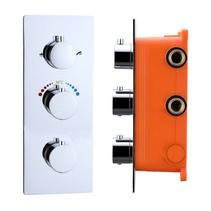 """Best-Design """"Magna"""" inbouw thermostaat & Inb.box 3 weg 1/2"""" ronde knoppen"""