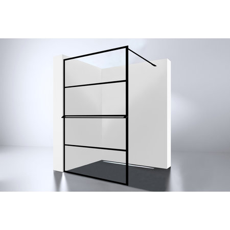 "Best-design Best-Design ""Noire 1200 screen"" inloopdouche Walk-In 1200x2000x10mm"