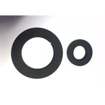 Best-Design set zwarte sierringen (2 stuks) tbv: 4003080